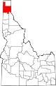 State map highlighting Bonner County