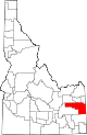 State map highlighting Bonneville County