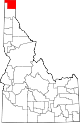 State map highlighting Boundary County