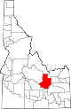 State map highlighting Butte County