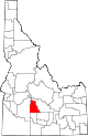 State map highlighting Camas County