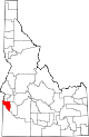 State map highlighting Canyon County