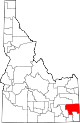 State map highlighting Caribou County