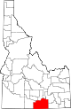 State map highlighting Cassia County