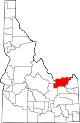 State map highlighting Clark County