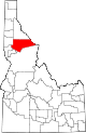 State map highlighting Clearwater County