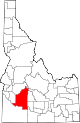 State map highlighting Elmore County
