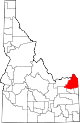 State map highlighting Fremont County