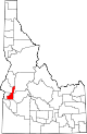 State map highlighting Gem County