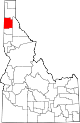 State map highlighting Kootenai County