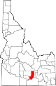 State map highlighting Minidoka County