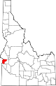 State map highlighting Payette County