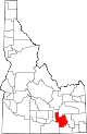 State map highlighting Power County