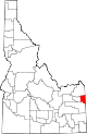 State map highlighting Teton County