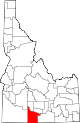 State map highlighting Twin Falls County