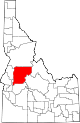 State map highlighting Valley County