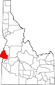 State map highlighting Washington County