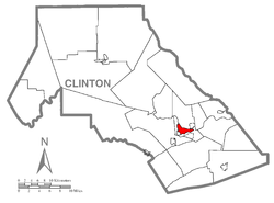 Lock Haven is in southern Clinton County