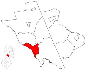 Map of Mercer County highlighting Trenton City.png