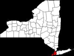 Locatie van New York City