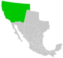 Location of California, Alta