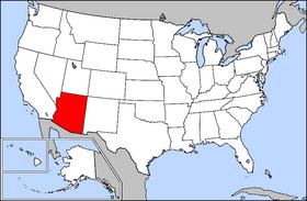 亞利桑那州在美國的位置