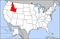 爱达荷州在美國的位置