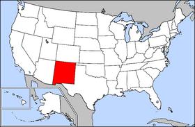 新墨西哥州在美國的位置