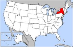 Locatie van New York