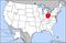 俄亥俄州在美國的位置