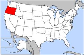 俄勒冈州在美國的位置