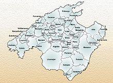 Carte de Majorque.