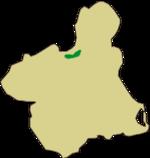Situación del espacio dentro de la Región de Murcia.