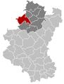 Situation de la ville dans son arrondissement et la province de Luxembourg