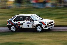 Markku Alén au volant de sa Lancia Delta