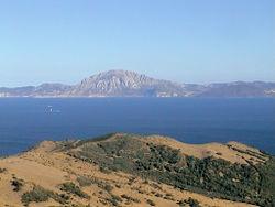 Le Jbel Musa depuis la côte espagnole