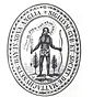 """The colony&squot;s first seal, depicting a dejected Native American with arrows turned downwards, saying """"Come over and help us"""", an allusion to Acts 16:9 of Massachusetts Bay Company"""