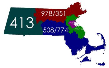 All Massachusetts area codes