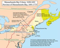Location of Massachusetts Bay Company