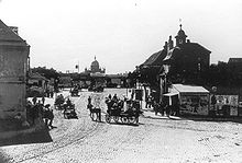Old photo of Matzleinsdorfer Square
