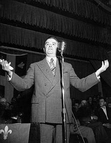 Photo du 16e premier ministre du Québec, Maurice Duplessis