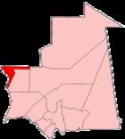Map of Mauritania showing Dakhlet Nouadhibou