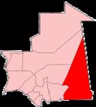 Map of Mauritania showing Hodh Ech Chargui