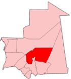 Map of Mauritania showing Tagant