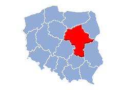 Ubicación de Voivodato de Mazovia