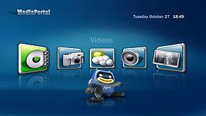 MediaPortal Blue3Wide Skin Home-Screen.jpg