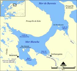 Carte de la mer Blanche.