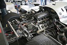 Photo du moteur Mercedes-Benz M119 des Sauber C11.