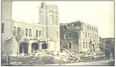 Metropolitan Methodist Church and YWCA after the Regina Cyclone