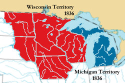 Location of Michigan Territory